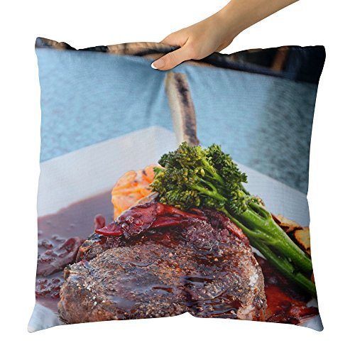Roasting Standing Rib Roast - Westlake Art Decorative Throw Pillow - Food Steak - Photography Home Decor Living Room - 20x20in