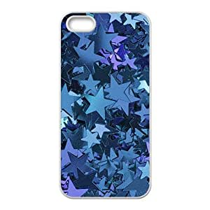 Blue little star Phone Case for iPhone 5S(TPU)