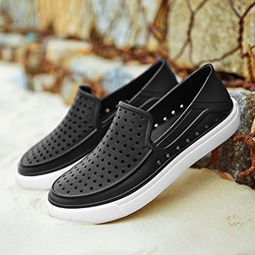 Ltt3102heise43 Enllerviid Uomini Slip On Scarpe Impermeabili Allacqua Estate Casual Beach Pool Garden Scarpe Nere 9,5 D (m) Us