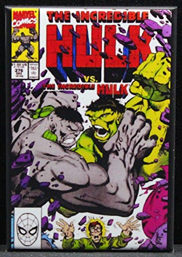 The Incredible Hulk #376 Comic Book Cover Refrigerator Magnet.
