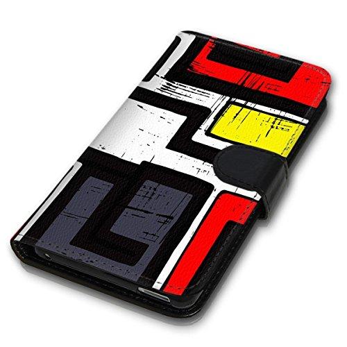 Wallet Book Style Flip Handy Tasche Case Schutz Hülle Schale Motiv Etui für Apple iPhone 4 / 4S - Design Flip MVD198