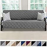 MIGHTY MONKEY Premium Reversible Futon Slipcover, Seat Width to 70 Inch Furniture Protector, 2 Inch Elastic Strap,...