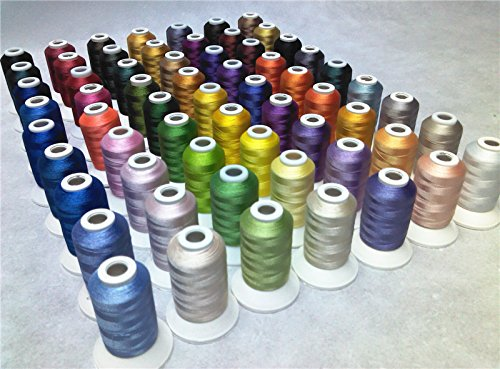 Simthread 63 Brother Colors Polyester 120d 2 40 Weight Embroidery piece of equipment Thread for Brother piece of equipment Sewing