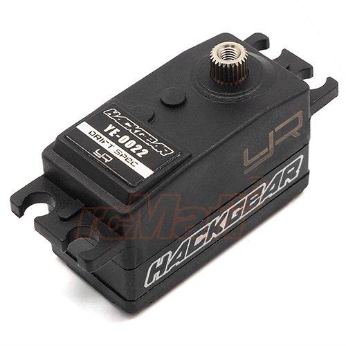Yeah Racing Hackgear Drift Spec Low Profile Digital High Speed Coreless Servo 0.08 Sec Black #YE-0022BK ()