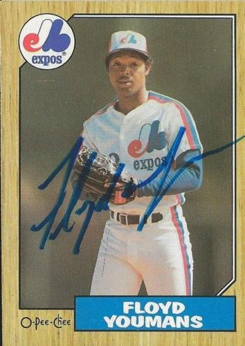 Floyd Youmans 1987 OPC Autograph #105 Expos by The Steel City Auctions Gallery