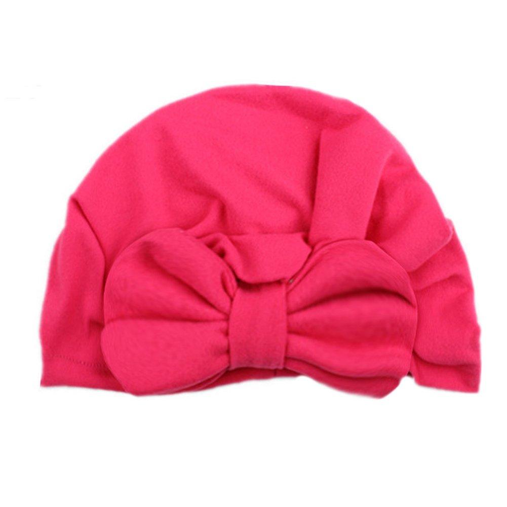 Tenchif Newborn Baby Infant Warm Hat Boys Girls Soft Bow Cap