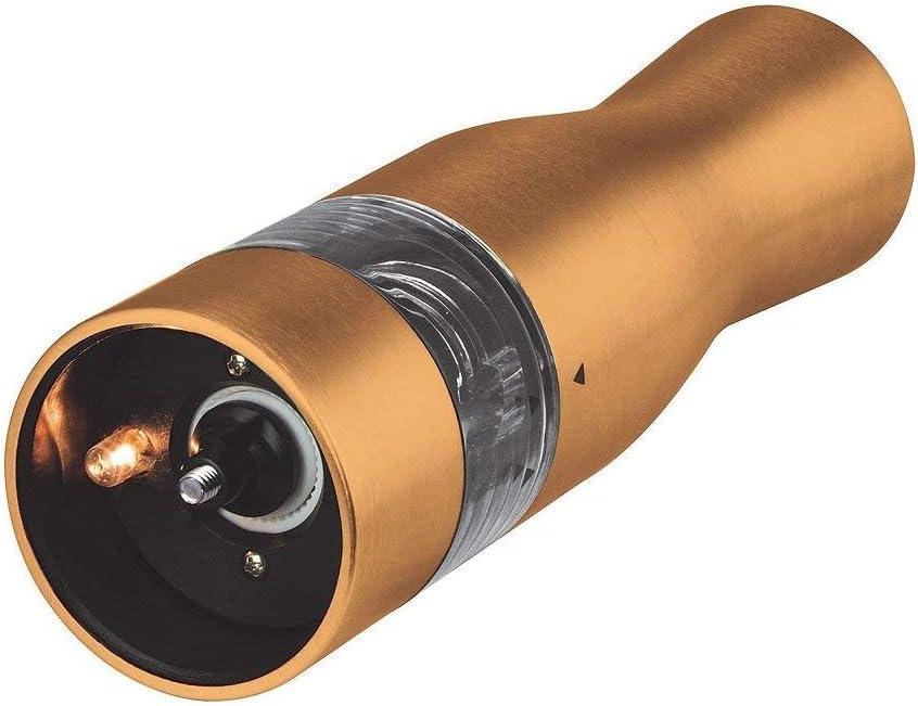 Kalorik Electric Salt and Pepper Grinder Battery Operated 2 Piece Set Copper