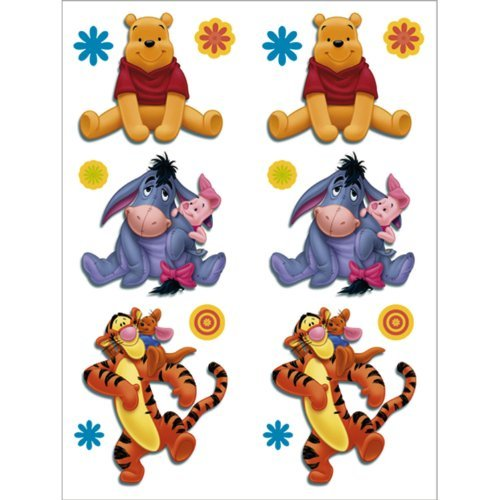Pooh and Friends Tattoos 2 Sheets