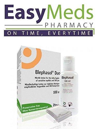 blephasol Duo: 100 ml x 3 blephasol cartucho 100 algodón almohadillas: Tratamiento de blefaritis