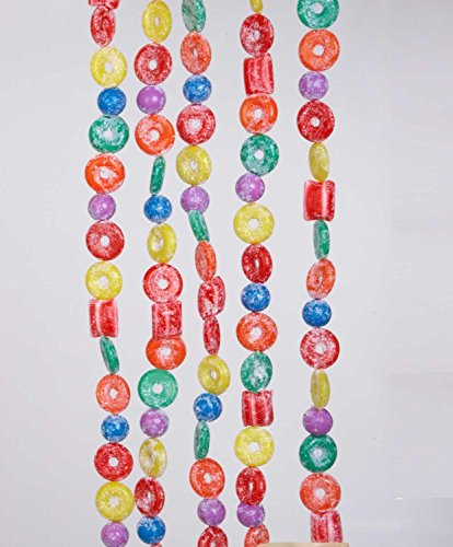 Candy Artificial - Kurt Adler H1737 9-Foot Plastic Glittered Life Saver, Ball, and Candy Garland