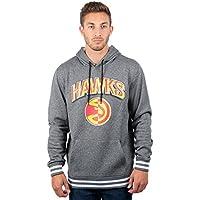 fan products of UNK NBA Men's Fleece Hoodie Pullover Sweatshirt Rib Stripe, Team Logo Gray