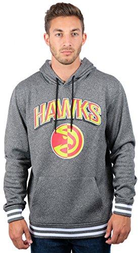 UNK NBA Men's Fleece Hoodie Pullover Sweatshirt Rib Stripe, Charcoal – DiZiSports Store
