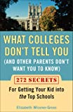 What Colleges Don't Tell You (And Other Parents Don't Want You to Know), Elizabeth Wissner-Gross, 0452288541