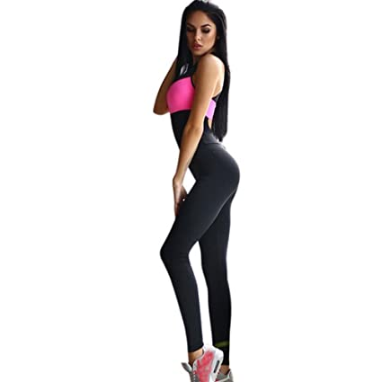 Amazon.com : Embiofuels(TM) Female Yoga Jumpsuit Active Wear ...