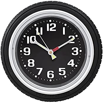 Black Auto Rim Shop >> Amazon.com: Harbor Freight Tools Tire Rim Gear Clock: Home & Kitchen