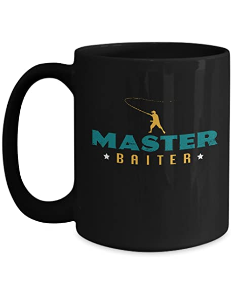 1cf12500f Amazon.com  Master Baiter Coffee Mug Fishing Mug For Men Or Women ...