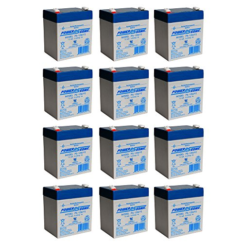 PS-1250F2 12V 5AH Battery for B D CS100 Sweeper - 12 Pack by Powersonic