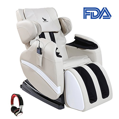 Mecor Zero Gravity Massage Chair Full Body Shiatsu Heated Recliner with Stretched Foot Rest,Airbag/Rolling Massage System,Music (Shiatsu Recliner)