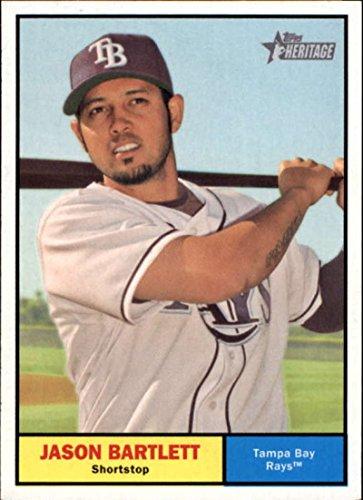 Heritage Topps 2010 Card - Baseball MLB 2010 Topps Heritage #399 Jason Bartlett #399 NM+ Rays