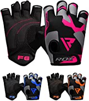 RDX Weight Lifting Gloves Gym Fitness, Anti Slip Padded Palm Grip Protection, Elasticated Breathable, Powerlif
