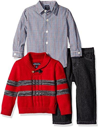 Nautica Three Piece Striped Sweater