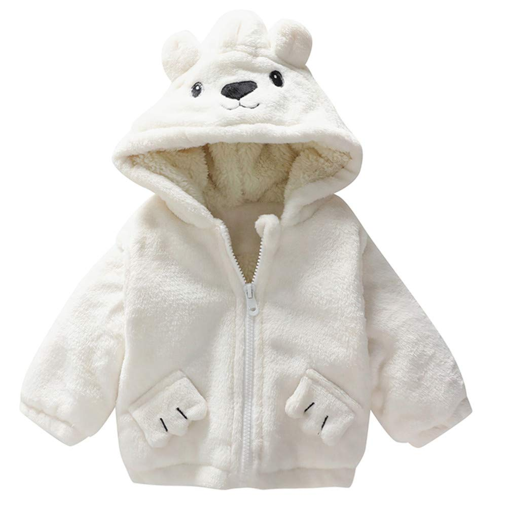 bd6fb97a034f Amazon.com   Unisex Baby Bear Cartoon Fleece Hooded Jacket Outerwear ...