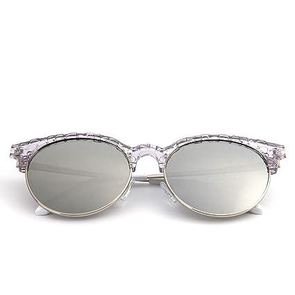 Sakuldes Cat Eye Classic Half Frame Gafas de Sol para Mujer Gafas de Sol polarizadas (