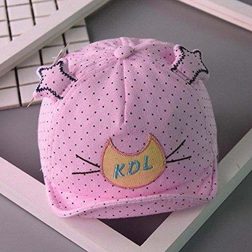 ひそかにビデオ若さ男子の帽子&キャップベビー帽子、韓国語バージョンの赤ん坊、サン、子供、スプリングキャップ、子刺繍、猫、サンの帽子をかぶっている。