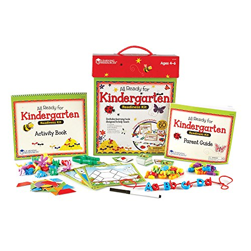 Learning Resources All Ready for Kindergarten Readiness Kit, Reading, Vocab, Handwriting Helper, Ages 4+ ()