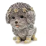 Rainy Day Pudgy Dog Textured Grey 7 x 9 Resin Stone Outdoor Garden Statue Review