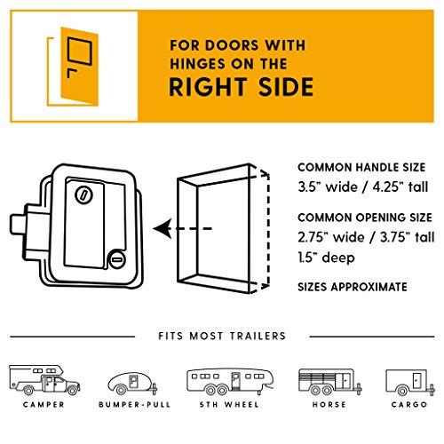 RVLock Key Fob and RH Compact Keyless Entry Keypad, RV/5th Wheel Lock Accessories