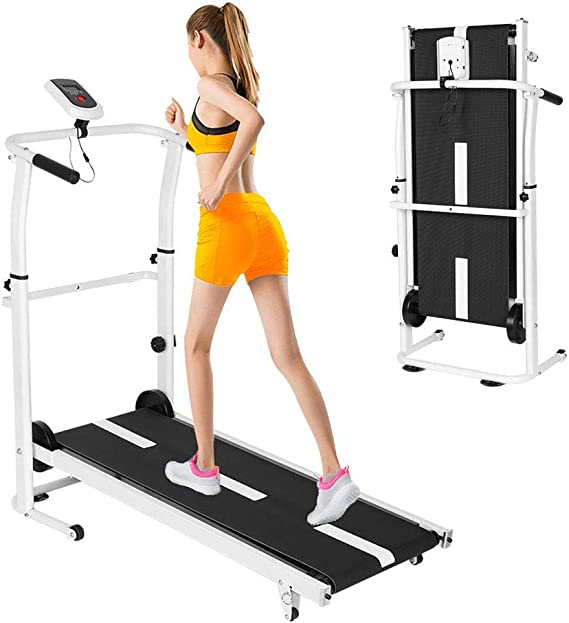 Wotryit Manual Walking Treadmill with LCD Display
