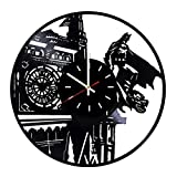 Everyday Arts American Superhero Batman Decor Vinyl Record Wall Clock - Get Unique Bedroom or Garage Wall Decor - Gift Ideas for Friends, Brother - Darth Vader Unique Modern Art