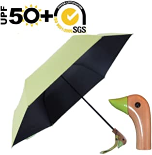 Duck Head Handle Umbrella,UV 50+ Shade Rain or Shine Folding Animal Travel Umbrella