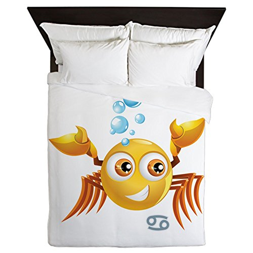Queen Duvet Cover SmileyFace Zodiac Cancer