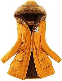 79e951c95c4 Women s Casual Cotton Cashmere Shearling Fur Hood Winter Coat Hoodie Jacket