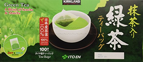 Kirkland Ito En Matcha Blend Japanese Green Tea-100 ct 1.5g tea bags (Itoen Tea)