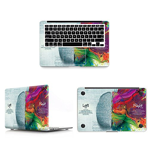 HRH 3 in 1 Left and Right Brain Full Body Cover Vinyl Decal Laptop Stickers Palmrest PalmGuard for Apple MacBook Pro 15 15.4 with Retina Display (Model A1398)