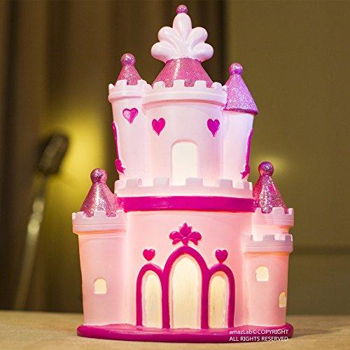 Amazlab Fairy Pink Castle Shaped LED Table Night Lamp