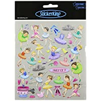 Tattoo King Multi-Colored Stickers-Ballerinas