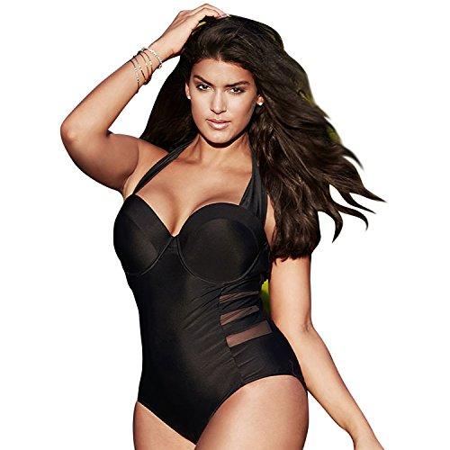 Costumi L da KUONUO Pezzi Bagno Alta Bikini One Plus Forti 4XL Sexy Vita Donne Size Charme Da Taglie Colore Bagno A Costumi qZrZtwR