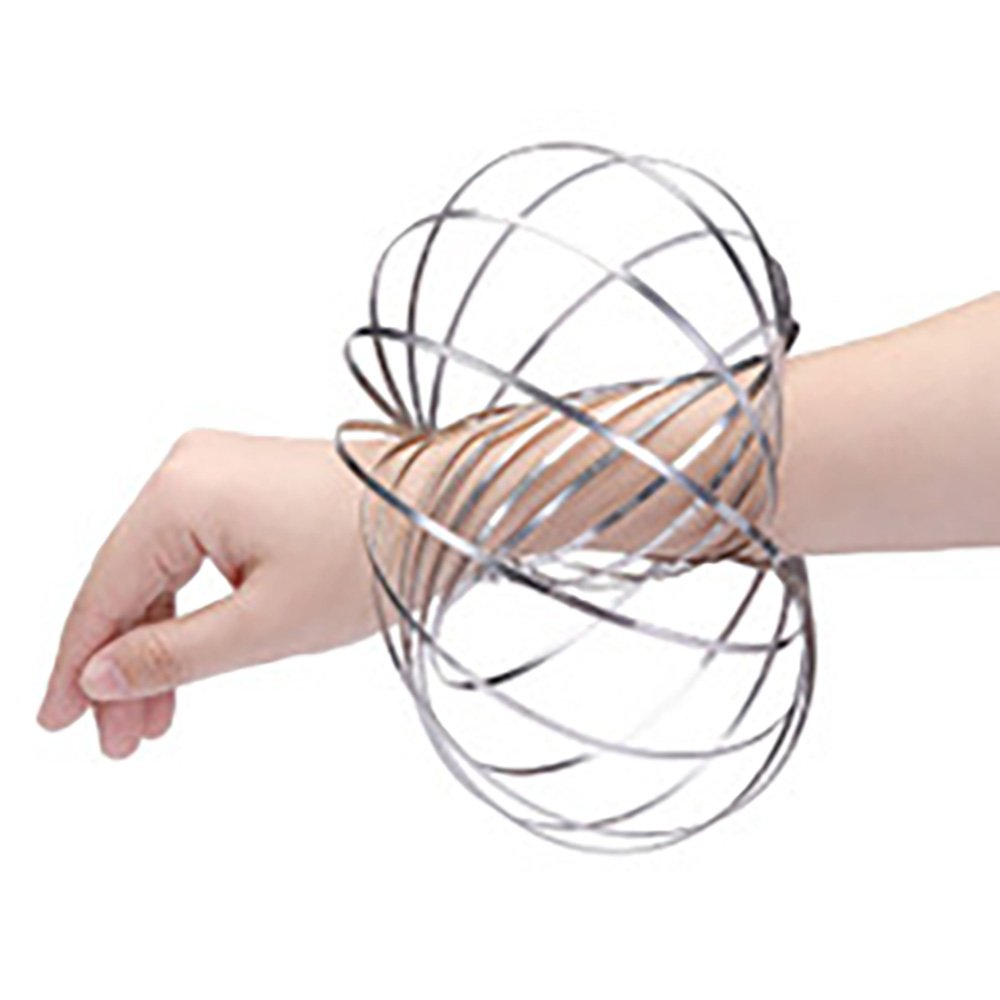 Flow Ring Kinetic Spring Toy 3D Shaped Magic Roll Ring Multi Sensory Interactive Press Spinner Ring Arm
