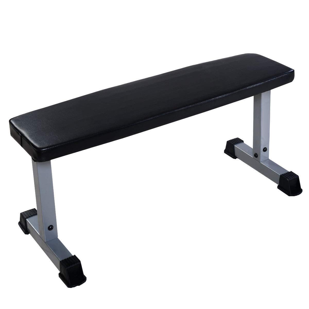 VeenShop 440 lbs Black Sit Up Bench Flat Crunch Board AB Abdominal Fitness Weight Exercise