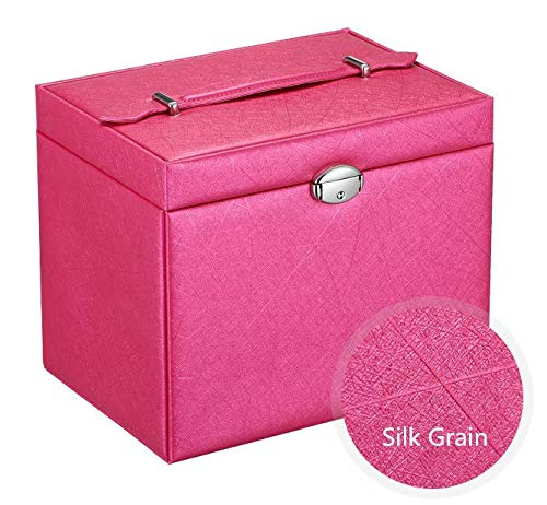 5d193bb5e Buy Portable Jewelry Packaging Box Jewerly Holder Trays Storage Boxes (Red)  in UAE