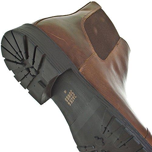 Jack & Jones  Jjradnor Leather 1 Boot Brown Ston,  Herren Stiefeletten mit dünnem Futter Braun