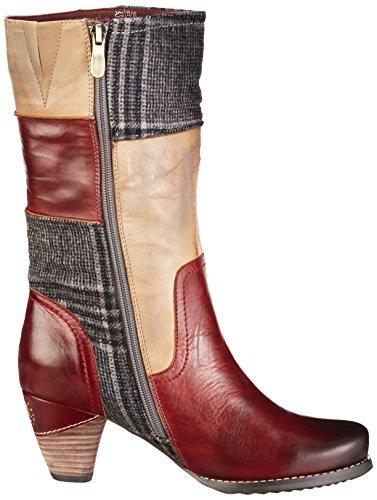 Manitu 970704 - Botas altas para mujer Rojo (Rot/Natur)