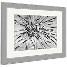 Ashley Framed Prints Detail Of Wooden Sticks Of The Game Of Mikado Or Shanghai On A Wooden Table, Wall Art Home Decoration, Black/White, 30x35 (frame size), Silver Frame, AG5897836
