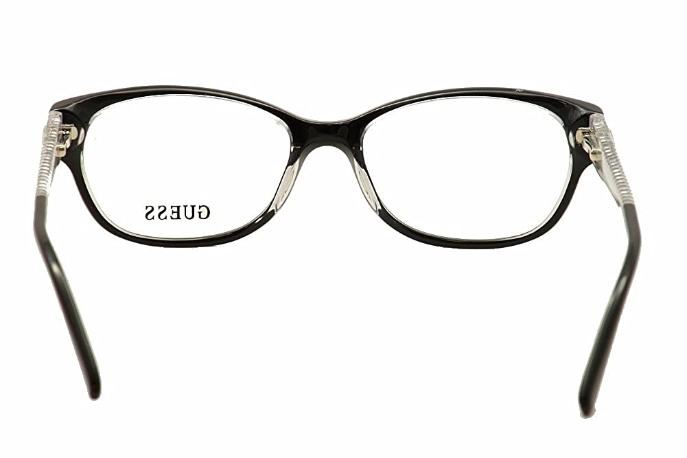 Guess Womens Eyeglasses GU2372 GU//2372 BLK Black Clear Full Rim Optical Frame 52mm