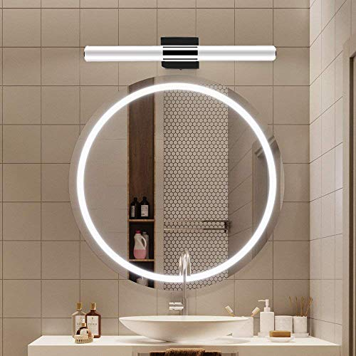 YHTlaeh 24inch LED Bathroom Vanity Light Fixtures Polished Chrome Daylight White Light -