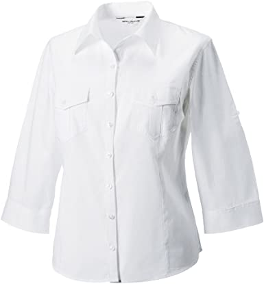 Russell Collection ru918 F – Ladies Roll Up Twill Shirt ...